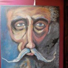 Arte: DON QUIJOTE DE LA MANCHA - OBRA ORIGINAL OLEO SOBRE LIENZO 50X40 -GÓMEZ16. Lote 76144107