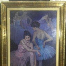 Arte: JOAN PALET , OLEO SOBRE LIENZO, MUY BUENO . Lote 76219643