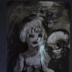 Arte: AGUSTIN PEREZ BELLAS. (VIGO 1925-1982) TINTAS. LA PULSERA.. Lote 76321535