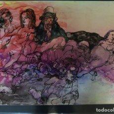 Arte: AGUSTIN PEREZ BELLAS. (VIGO 1925-1982) TINTAS. EL VICIOSO.. Lote 76322511