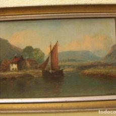 Arte: PINTURA AL OLEO DE HENRY ARMSTRONG WHITTLE (1834 – 1904) PAISAJE DE ESCOCIA. Lote 76398179