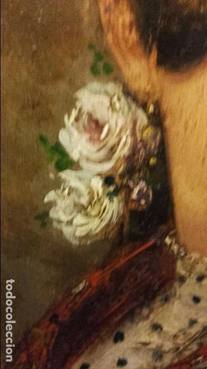 Arte: CUADRO OLEO SOBRE TABLA FDO. GAYAN (MALAGA) MUY ANTIGUO POSIBLE SIGLO XIX REF.192 - Foto 14 - 76470439