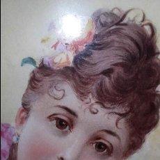 Arte: CUADRO OLEO SOBRE PLACA PORCELANA CARTUJA DE SEVILLA FIRMADO C M RODRIGUEZ S XIX MUY ANTIGUO 1890. Lote 76482227