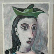 Arte: PABLO PICASSO - DAMA CON SOMBRERO - CUBISMO - OBRA ORIGINAL ESCUELA DE ARTE - OLEO+ACRILICO. Lote 76546575