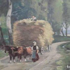 Arte: CUADRO OLEO PAISAJE IMPRESIONISTA SOBRE TABLA FIRMADO EMIL KRAUS 1948 MUY ANTIGUO. Lote 76577371