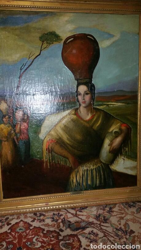 ÓLEO SOBRE LIENZO FIRMADO EUGENIO HERMOSO ME HAN INFORMADO DE QUE ES UNA COPIA (Arte - Pintura - Pintura al Óleo Moderna siglo XIX)