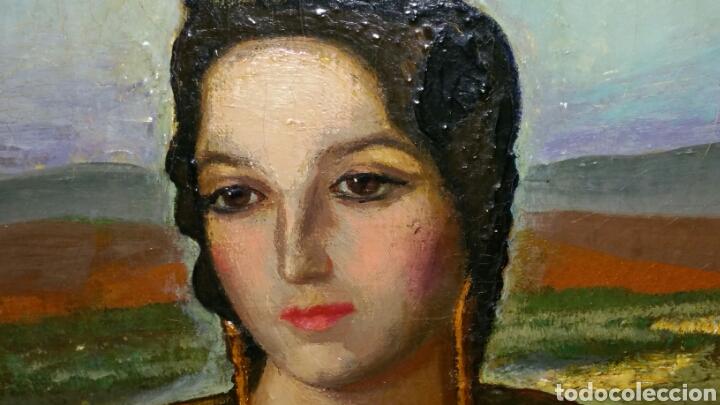 Arte: Óleo sobre lienzo firmado Eugenio Hermoso ME HAN INFORMADO DE QUE es una copia - Foto 4 - 76595701