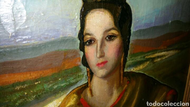 Arte: Óleo sobre lienzo firmado Eugenio Hermoso ME HAN INFORMADO DE QUE es una copia - Foto 5 - 76595701