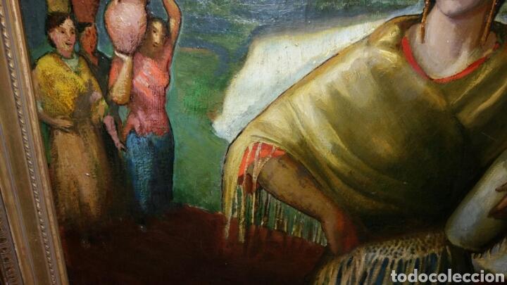 Arte: Óleo sobre lienzo firmado Eugenio Hermoso ME HAN INFORMADO DE QUE es una copia - Foto 7 - 76595701