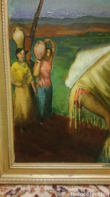 Arte: Óleo sobre lienzo firmado Eugenio Hermoso ME HAN INFORMADO DE QUE es una copia - Foto 8 - 76595701