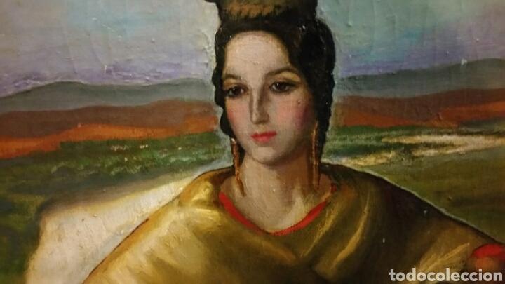 Arte: Óleo sobre lienzo firmado Eugenio Hermoso ME HAN INFORMADO DE QUE es una copia - Foto 13 - 76595701