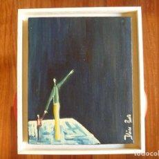 Arte: OLEO ITZIAR BARRIO - LA PATERNIDAD - ARTE CONCEPTUAL - IDEA ART -. Lote 76662191