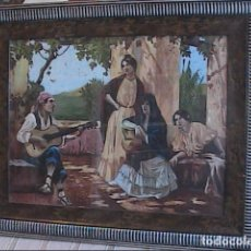 Arte: PRECIOSO OLEO SOBRE TELA. TARDE DE RONDA ESPAÑOLA. 1920. ANÓNIMO.. Lote 76733827