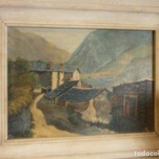 Arte: PAISAJE OLEO SOBRE CARTÓN FIRMADO J. MERODIO ENMARCADO MEDIDA 42 X 33 CARTÓN 32 X 23 CM. . Lote 76759247
