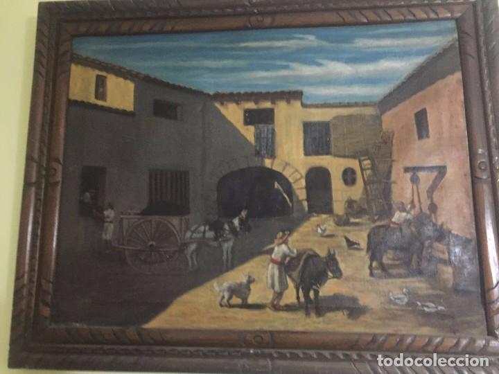 ESCENA VALENCIANA. S. XIX. (Arte - Pintura - Pintura al Óleo Moderna siglo XIX)
