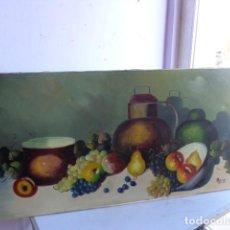 Arte: ANTIGUO Y7 BONITO CUADRO DE BODEGON DE OLEO SOBRE LIENZO, FIRMADO Y EN MUY BUEN ESTADO. Lote 77132689