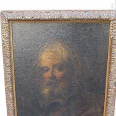 Arte: MAGNÍFICO RETRATO AL ÓLEO DEL SIGLO XVIII, FIRMADO CIAPPA DA REMBRANDT,. Lote 77210185