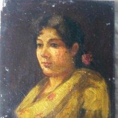 Arte: CHULA MALAGUEÑA , FIRMADA FERNÁNDEZ. 1890. Lote 77228453