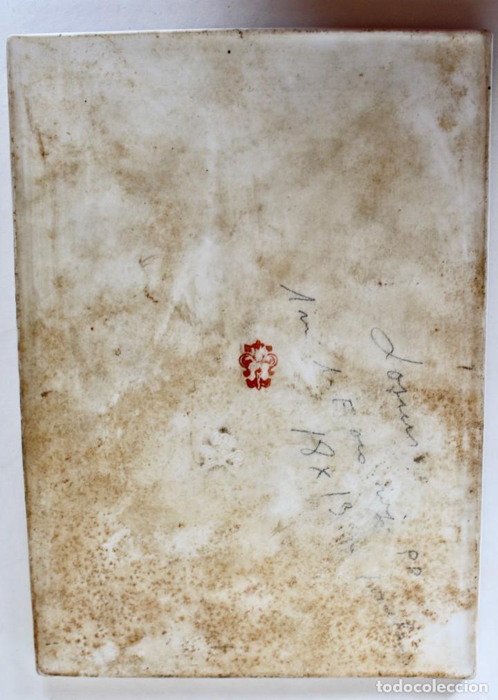 Arte: PINTURA DE CABALLERO SOBRE PORCELANA, SIGLO XIX. 18 x 13 cm. - Foto 2 - 77301469
