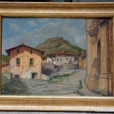 Arte: PLANAS DORIA, SANT HIPÒLIT DE VOLTREGÀ, ÓLEO SOBRE MADERA 50X70CM. MARCO: 67X87CM.. Lote 77309761