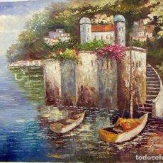 Arte: OLEO ORIGINAL FIRMADO 99X77 CM. Lote 77319541