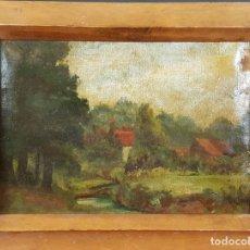 Arte: PAISAJE RURAL. OLEO SOBRE LIENZO. ESCUELA INGLESA. SIGLO XIX-XX. . Lote 77331125