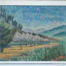 Art: PAISAJE AL OLEO SOBRE LIENZO POST IMPRESIONISTA DE LA PINTORA HOLANDESA NORA STROINK 1897-1978. Lote 77393293