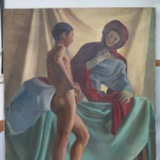 Arte: INTERESANTE OLEO S/ LIENZO. OLEO DE ESTUDIO ANATOMIA. FIRMADO A. IBARRA. PPIOS. SIGLO XX. Lote 77412429