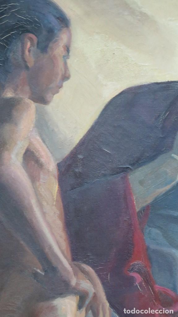 Arte: INTERESANTE OLEO S/ LIENZO. OLEO DE ESTUDIO ANATOMIA. FIRMADO A. IBARRA. PPIOS. SIGLO XX - Foto 2 - 77412429