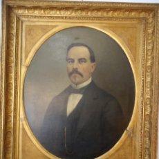 Arte: RETRATO DE CABALLERO PINTADO EN1878 POR EL ALICANTINO JOSÉ GONZALVEZ - PARAES -. Lote 77854465