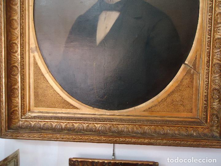 Arte: Retrato de Caballero Pintado en1878 por el alicantino José Gonzalvez - Paraes - - Foto 3 - 77854465