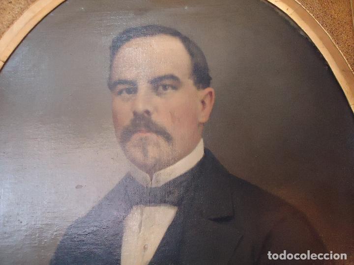 Arte: Retrato de Caballero Pintado en1878 por el alicantino José Gonzalvez - Paraes - - Foto 5 - 77854465