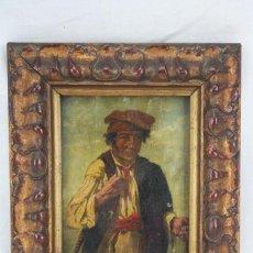 Arte: PINTURA AL ÓLEO SOBRE TABLA ENTELADA - RETRATO DE PAYÉS CATALÁN - ESCUELA ESPAÑOLA, SIGLO XVIII. Lote 77980981