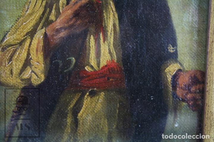 Arte: Pintura al Óleo Sobre Tabla Entelada - Retrato de Payés Catalán - Escuela Española, Siglo XVIII - Foto 4 - 77980981