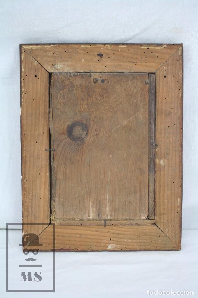 Arte: Pintura al Óleo Sobre Tabla Entelada - Retrato de Payés Catalán - Escuela Española, Siglo XVIII - Foto 7 - 77980981
