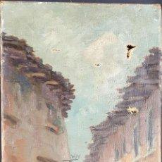 Arte: PAISAJE CALLE DE PUEBLO. ÓLEO SOBRE LIENZO. C. LARRAMENDI. SIGLO XIX-XX. . Lote 78004149