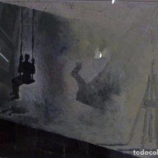 Arte: XURXO GOMEZ-CHAO (CORUÑA 1960) MIXTA SOBRE PAPEL. COLUMPIADO.. Lote 78030213