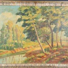 Arte: PAISAJE RURAL. ÓLEO SOBRE TABLA. FIRMADO I. SABATER. 1943. . Lote 78033245