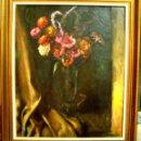 Arte: VALENTIN URIOS (ESCUELA VALENCIANA). BODEGON DE FLORES. OLEO/LIENZO 73X60 CMS. Lote 78050605