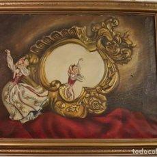 Arte: OLEO SOBRE LIENZO FIRMADO ESCUELA ESPAÑOLA. Lote 78092905