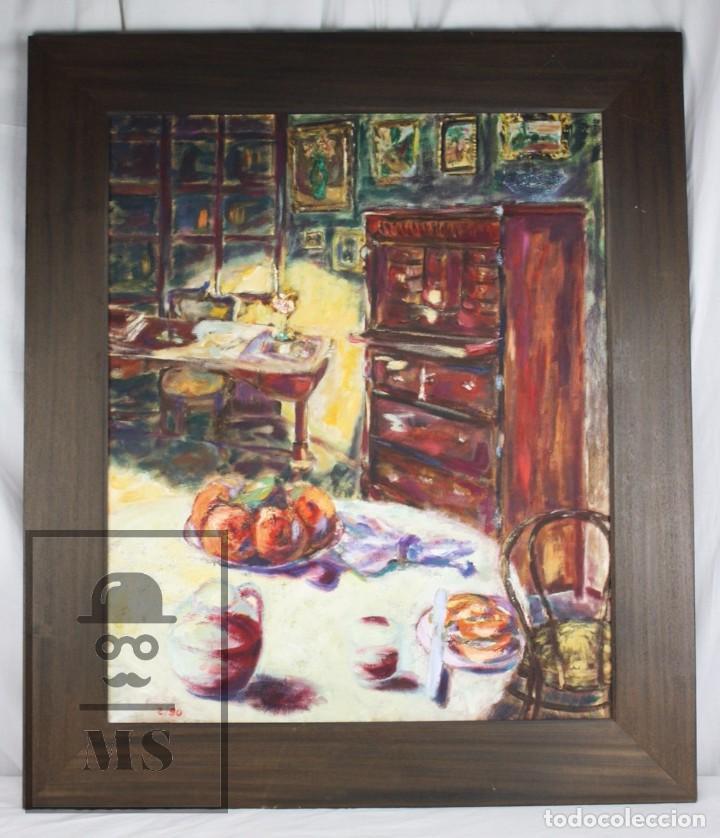 pintura al óleo sobre lienzo, enmarcada - firma - Comprar Pintura al ...
