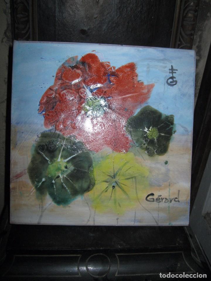 AZULEJO GRANDE GERARD PINTOR DE ALICANTE PINTURA IMPRESIONISTA OLEO (Arte - Pintura - Pintura al Óleo Moderna sin fecha definida)