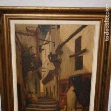 Arte: ANTIGUO CUADRO AL ÓLEO FIRMADO POR RIUS DAEL XXXII.PUEDE SER AÑO 1932 ALGÚN PICADO. 43 X 32 CMS. Lote 78287209