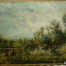 Arte: PAISAJE RURAL POR EL PINTOR NAVARRO ANDRES LARRAGA (1861-1931). Lote 78551425