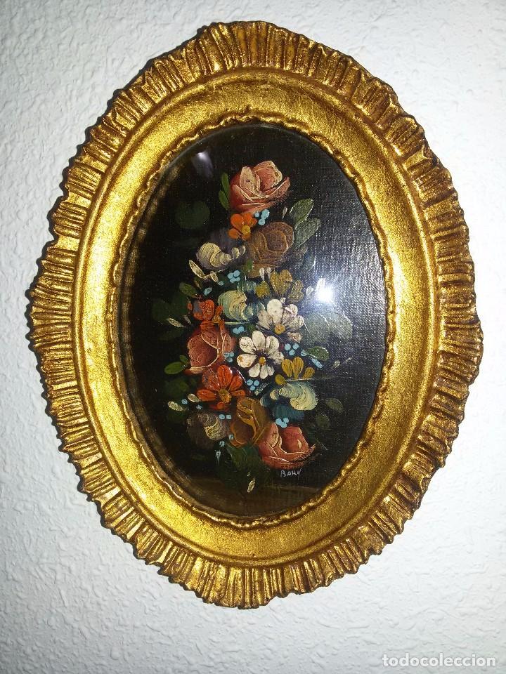 tres cuadros ovalados-óleo-marco de madera-sigl - Comprar Pintura al ...