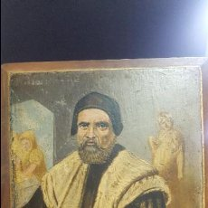 Arte - Pintura oleo sobre tabla finales del siglo xix firmado lopez - 78976461