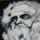 Arte: DON QUIJOTE - MIRADA - ACRÍLICO SOBRE TABLA - ORIGINAL ESCUELA DE ARTE . Lote 79126705