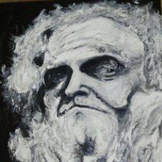 Arte: DON QUIJOTE - MIRADA - ACRÍLICO SOBRE TABLA - ORIGINAL ESCUELA DE ARTE. Lote 79126705