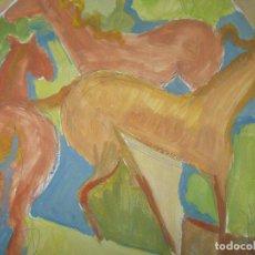 Arte: OLEO DE ESTUDIO ANTIGUO SOBRE CARTULINA ATRIBUIDO A TORRES NARVAEZ MALAGA. Lote 79277649