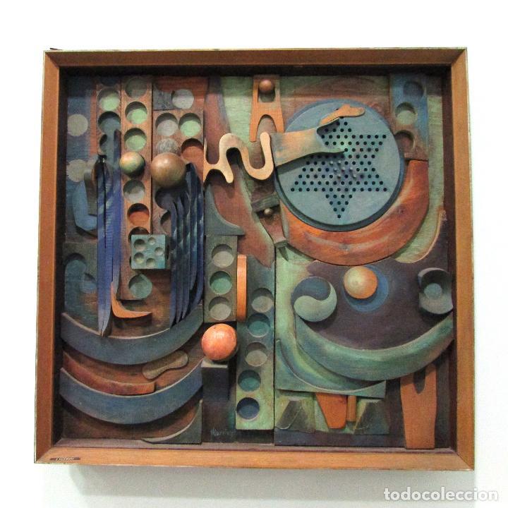 Cuadro arte moderno estilo abstracto relieve ma comprar - Cuadros estilo moderno ...